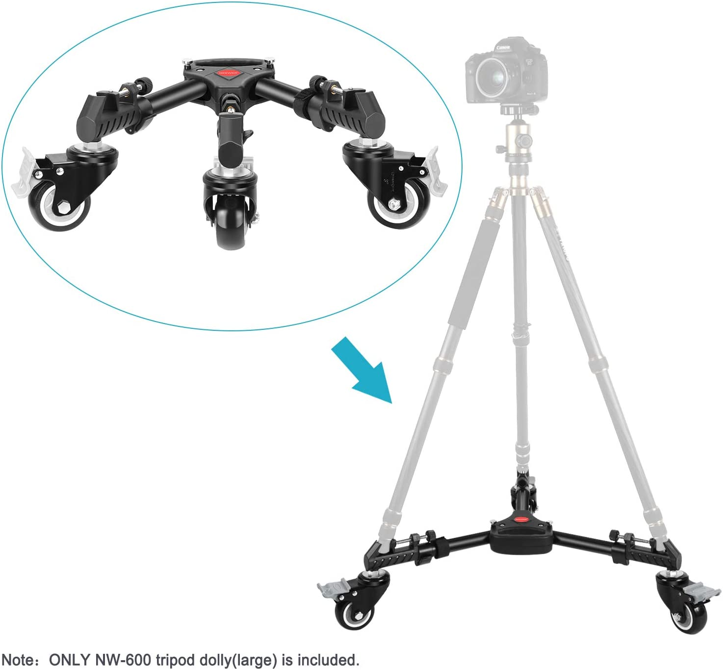 DURAGADGET Professional Tough Versatile Sturdy Tripod with 3D Ball Head Rollei Compactline 800 Compatible with The Rollei Powerflex 350