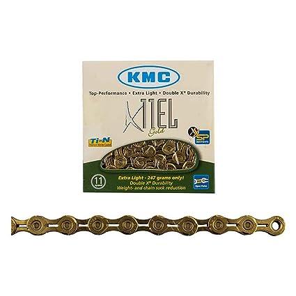 New KMC X11SL X11EL Bike Chain Retail Pack 11 Speed Shimano//SRAM 118 Link Gold