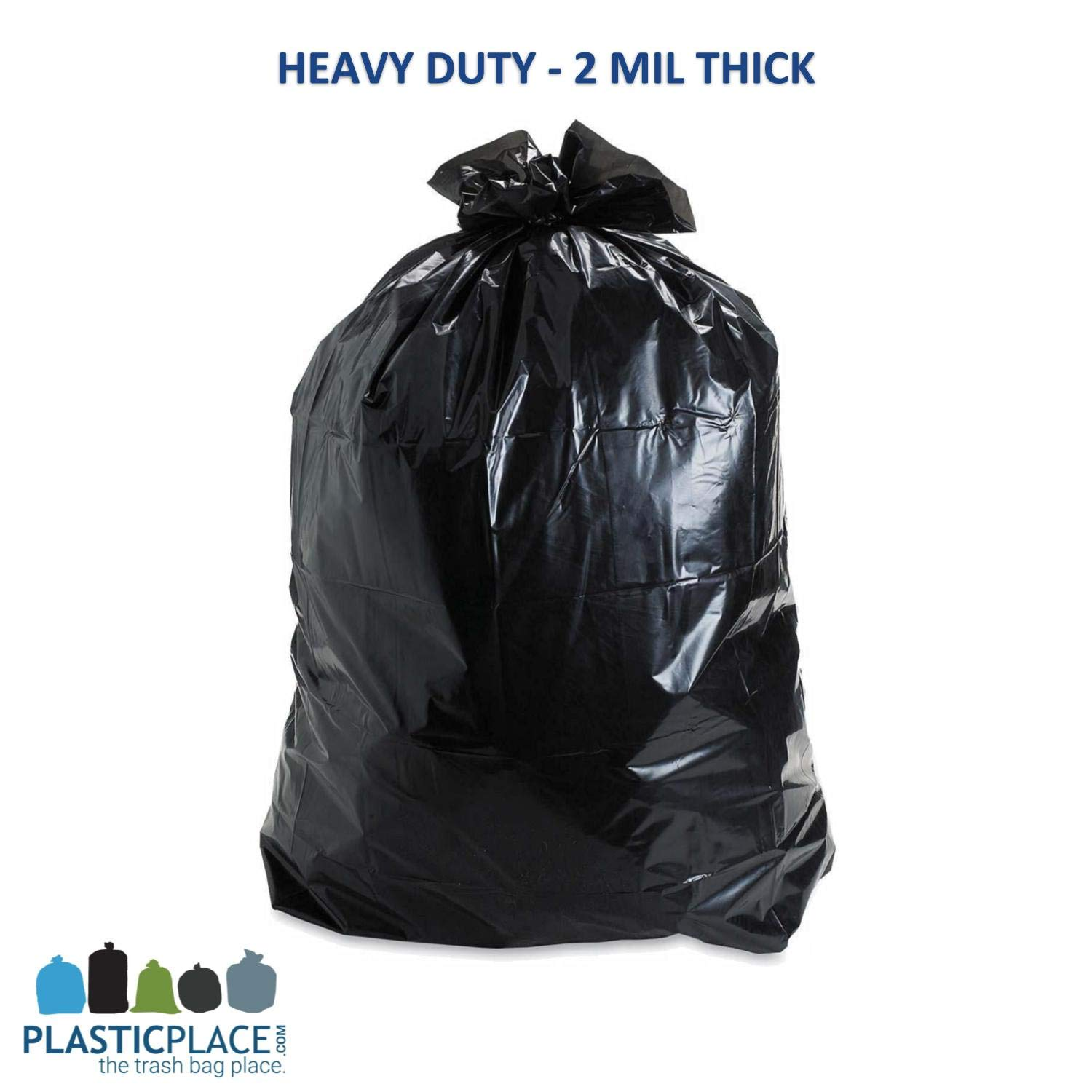 Trash Duty For Students With Special >> Plasticplace 95 96 Gallon Garbage Can Liners 2 Mil Black Heavy Duty Trash Bags 61 X 68 25 Count