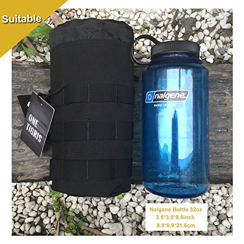 """OneTigris Drawstring Water Bottle Pouch for 32oz Carrier 9.4""""x3.7"""""""