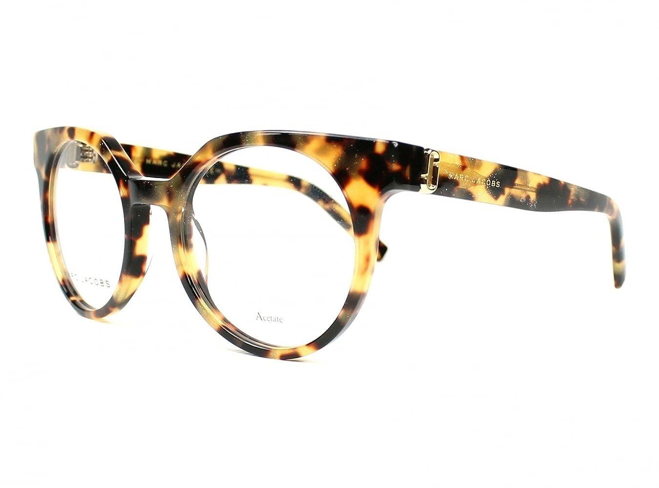 3aff92fb52 Amazon.com: Optical frame Marc Jacobs Acetate Glitter Havana (MARC ...