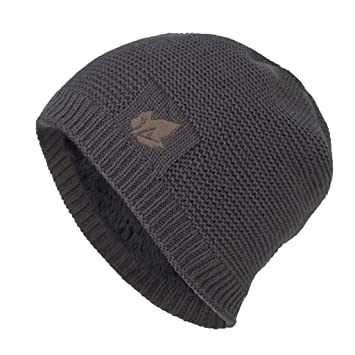 Men Women Ski Knit Baggy Thick Warm Beanie Cap Hat with Skull Pattern