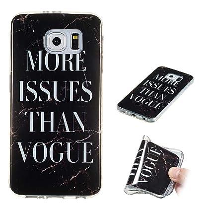 Yunbaozi Funda Mármol Samsung Galaxy S6 Carcasa Suave Silicona Marble Case IMD Piedra Anti-Rasguños Anti-Huella Digital Patrón Geometric Granito, ...