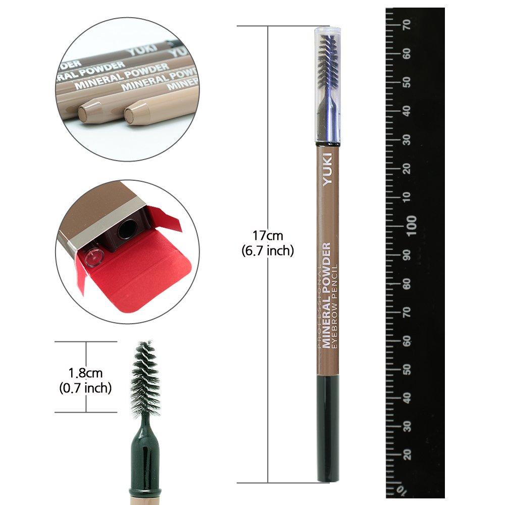 Amazon.com: Lápiz de cejas por Yuki | Afilador de polvo de ...