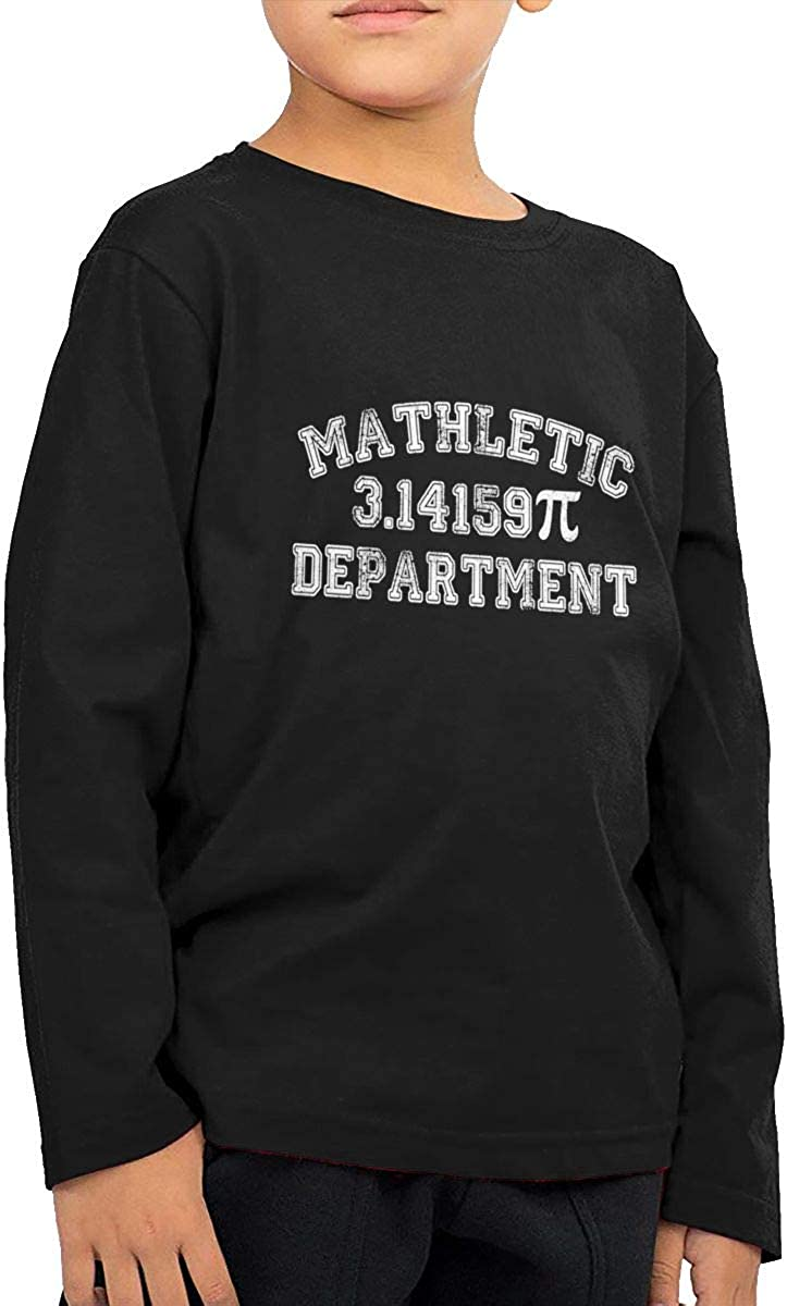 Mathletic 3.1415 Childrens Long Sleeve T-Shirt Boys Cotton Tee Tops