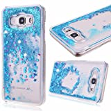 Kitchen Appliance Packages Luxury Galaxy Sky Case, J3/J3 V Case,Galaxy Sol Case,DAMONDY Cute 3D Moving Stars Bling Liquid Glitter Floating Flowing Ultra Clear Hard Cover Case for Galaxy J3/Express Prime/Amp Prime -blue