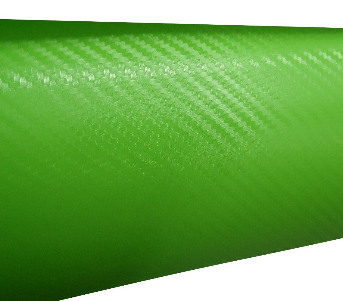 Aerzetix: 127/75cm film adhésif vinyle fibre de carbon vert thermoformable C17202
