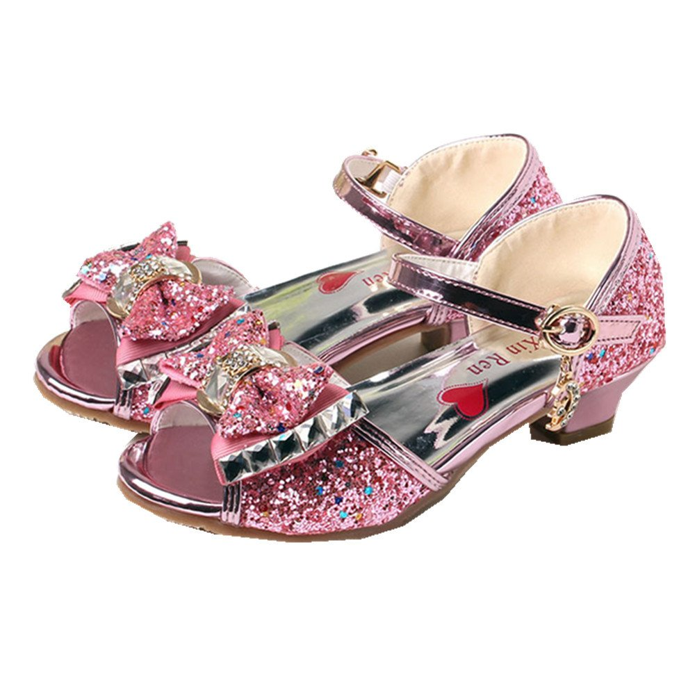 PRETTYHOMEL Girls Flower Open Toe Strap Sandals Flat Sandal Dress Shoes Toddler//Little Kid