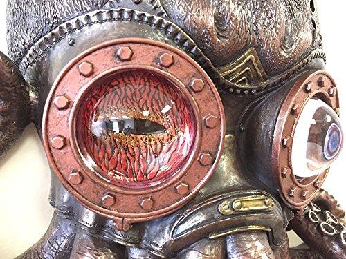 Steampunk Octopus Wall Plaque Sculpture,Bronze 4
