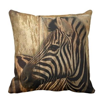 Amazon Emvency Throw Pillow Cover Wild Rustic Africa Safari Stunning Safari Decorative Pillows