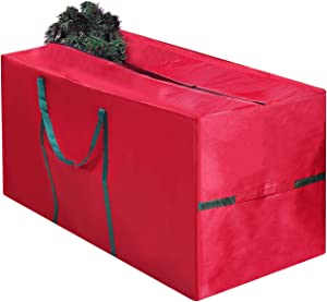 Morevee Christmas Tree Storage Bag, Fits Up to 7.5 Foot Holiday Xmas Disassembled Trees, Durable Waterproof Material to Protect Against Dust, Insects, and Moisture Zippered Bag with Carry Handles