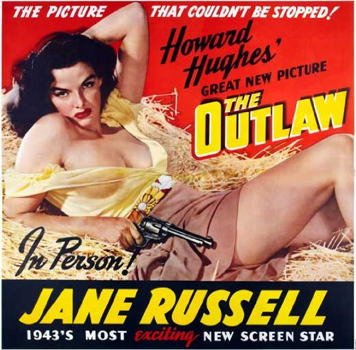 The Outlaw Poster Movie 30 x 30 Inches - 77cm x 77cm Jane Russell Jack Buetel Walter Huston Thomas Mitchell Mimi Aguglia Gene Rizzi Joseph (Joe) Sawyer