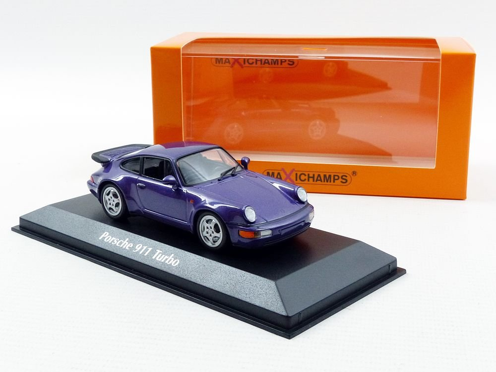 Amazon.com: Minichamps 940069100 Maxichamps 1:43 1990 Porsche 911 Turbo-Purple Metallic: Maxichamps: Toys & Games