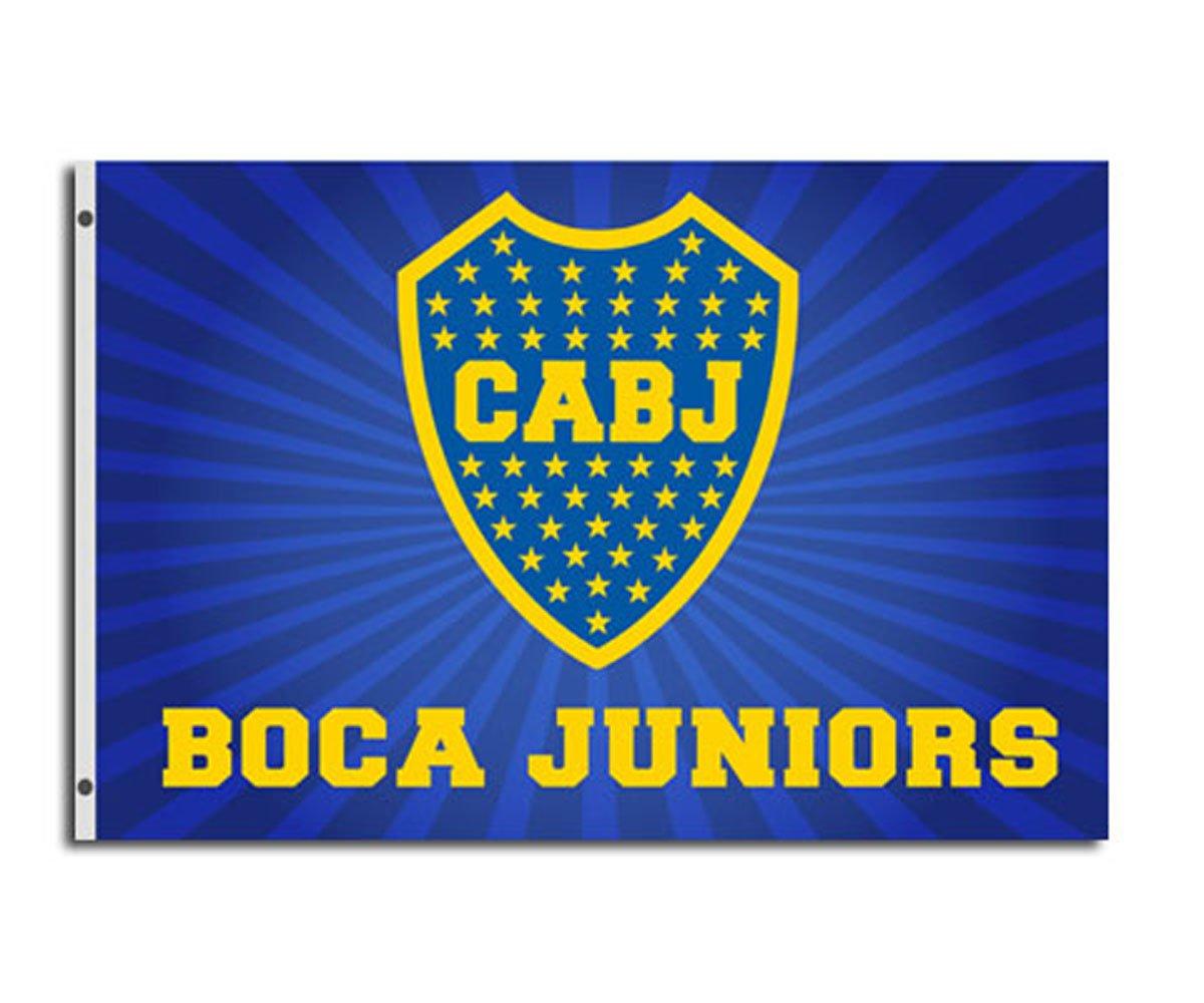 Boca Junios unisex bandiera con 2occhielli, blu, 150x 90cm Supportershop 5060360360003