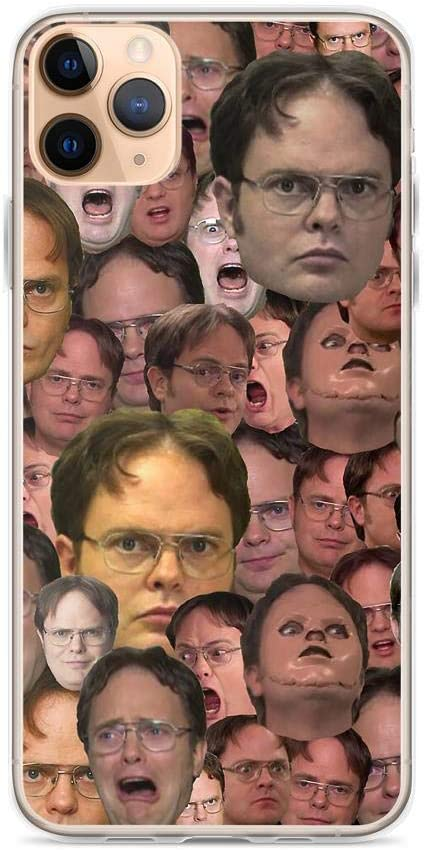 Crazy Caa Compatible with iPhone 11 Case The Office Dwight Schrute Meme Faces Pure Clear Phone Cases Cover