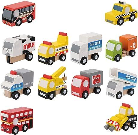 Coche de Juguete para niños, Coche de Juguete de Madera, Caja Fuerte Duradera de Color Brillante niños para niños(2nd Generation Car): Amazon.es: Hogar