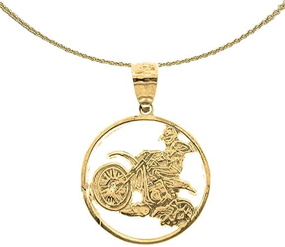 14K Yellow Gold-plated 925 Silver Bicycle Pendant with 18 Necklace Jewels Obsession Bicycle Necklace
