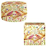 Foot Stools Poufs Chairs Round or Square from DiaNoche Designs by Sascalia - Love Birds