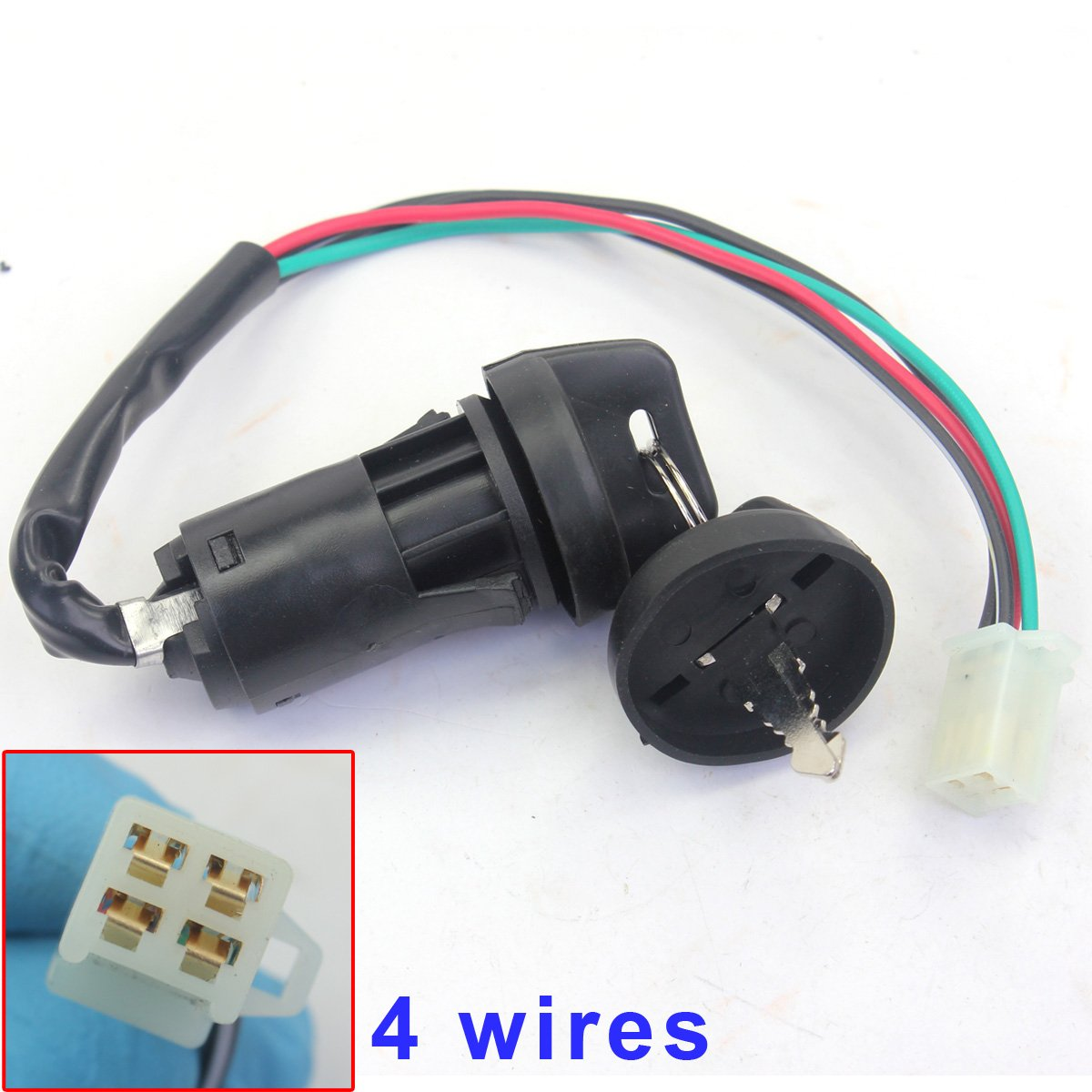 Amazon.com: Wingsmoto Ignition Key Switch 4 Wires 50cc 70cc 90cc ...