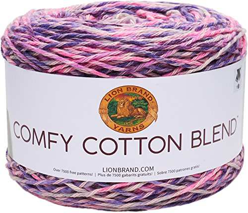 Lion Brand Yarn 756-707 Comfy Cotton Blend Yarn, Soothing Lavender