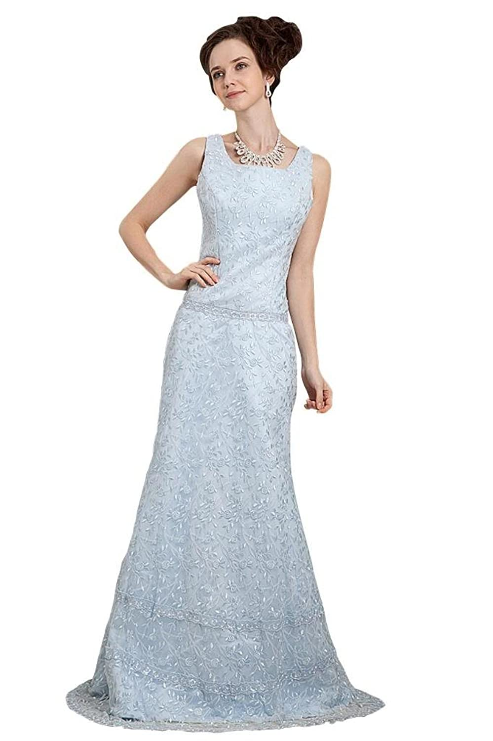 GEORGE BRIDE New Designer Lace Straps Long Evening Dress