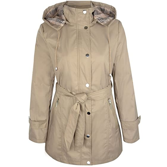 Amazon.com: Fashion Thirsty Womens Smart Belted Summer Trench ...