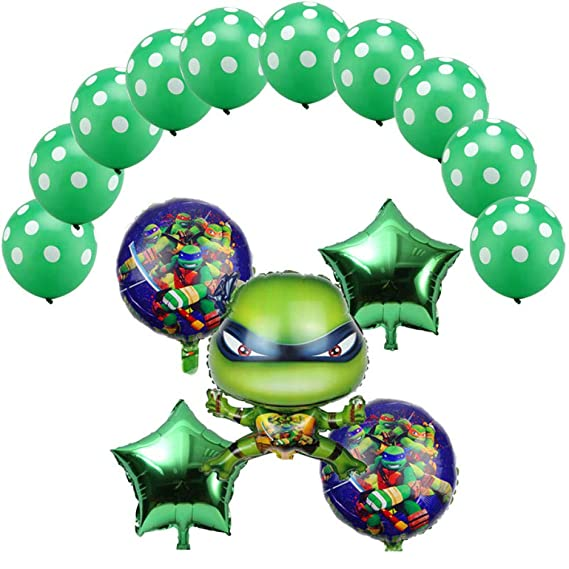 15 piezas Teenage Mutant Ninja Turtles globos globos de ...
