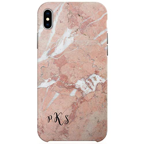 be709860ad085 Amazon.com: Monogram iPhone X case, Custom Marble iPhone 10 Case ...
