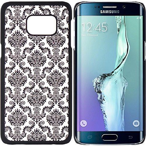 XYZ Samsung Galaxy S6 Edge Plus Case (AT&T T-Mobile Sprint Verizon) Ultra Slim Translucent Rubber Diva Design Lace Hard Cover (Black Lace)