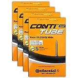 Continental Race 28 700x25-32c Bicycle Inner Tube Bundle - 60mm Presta Valve - 4 Pack w/Conti Sticker