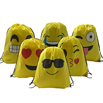 Emoji - Bolsa de deporte, 6 unidades, ideal para cumpleaños ...