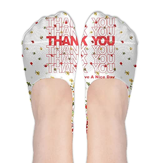 ce692dbb3beb03 Thank You Have A Nice Day Women s Thin Casual No Show Socks Non Slip Flat  Boat