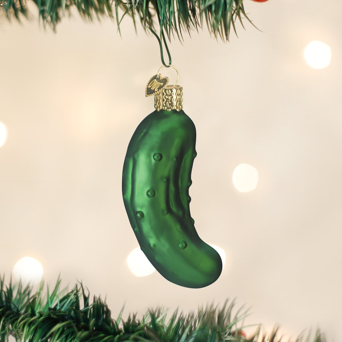 Amazoncom Old World Christmas Pickle Glass Blown Ornament Home