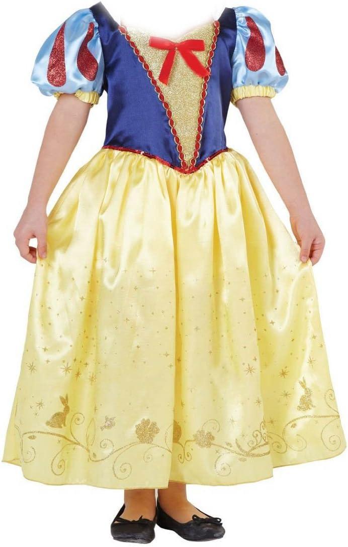 Disfraz Blancanieves para niñas – Azul, amarillo – Talla M 5-8 ...