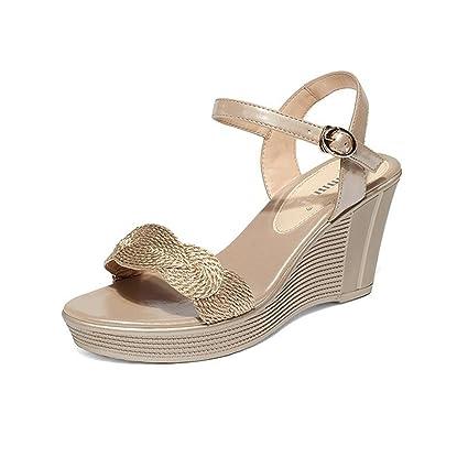 CJC Sandalias de Tacón Alto Zapatos Abiertos de Tacón Alto Tacones Finos de  Moda Sandalias Elegantes 7b5d67a6dff6