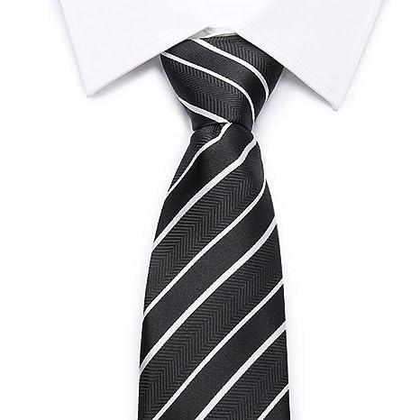 ZHENZHIA - Corbata de 8 cm para Hombre, diseño de Rayas de ...