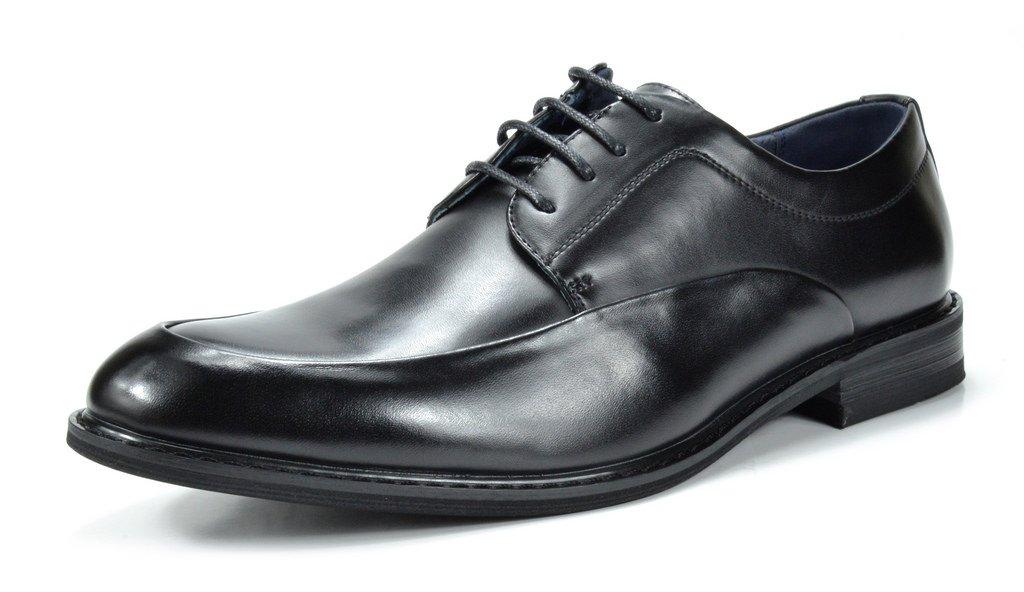 Bruno Marc Men's Prime-1 Black Leather Lined Dress Oxfords Shoes - 10.5 M US