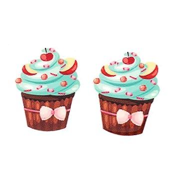 35 x 27 mm Lovely frutas Cupcakes Planar resina Flatback dibujos animados Alimentos Craft DIY para niños niñas joyería adornos 20 unidades: Amazon.es: ...