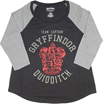 Seven Times Six Harry Potter Gryffindor Team Captain Quidditch Womens Raglan