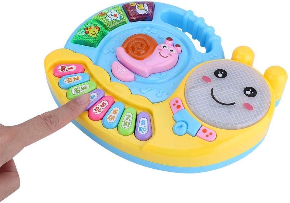 Beb/é Piano Juguete Educativo Musical Caracol Teclado Lindo Electr/ónico Auditivo Desarrollo de M/úsica T/áctil Juego para Aprender Piano Rosa