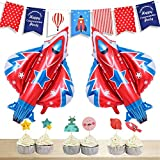 LUCK COLLECTION Space Party Decorations Space Rocket Theme Baby Shower Birthday Party Supplies