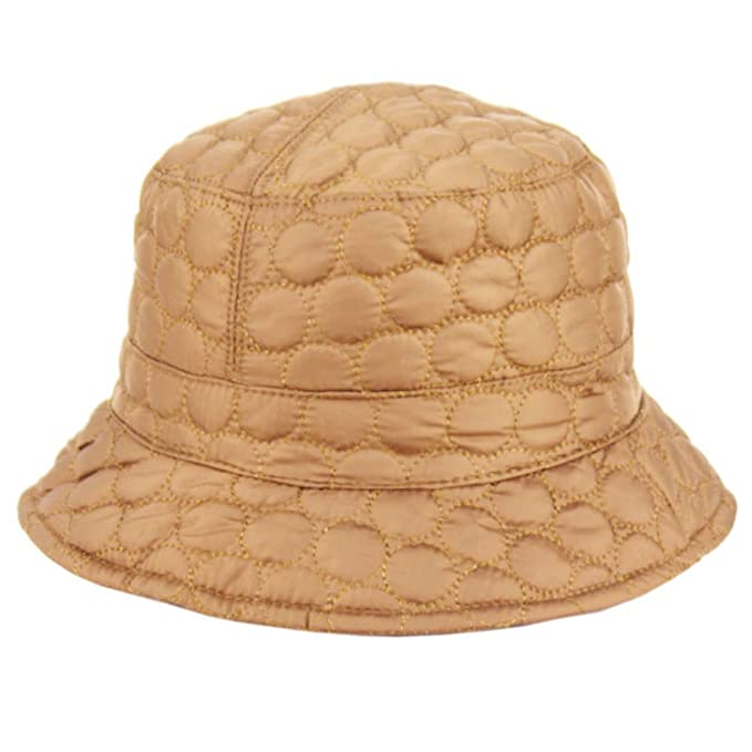 Plum Feathers Foldable Water Repellent Quilted Rain Hat w Adjustable  Drawstring 3d6606e1a2a