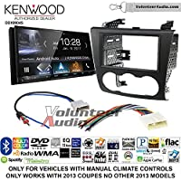 Volunteer Audio Kenwood DDX9904S Double Din Radio Install Kit with Apple CarPlay Android Auto Bluetooth Fits 2007-2013 Nissan Altima (Manual Climate Controls)