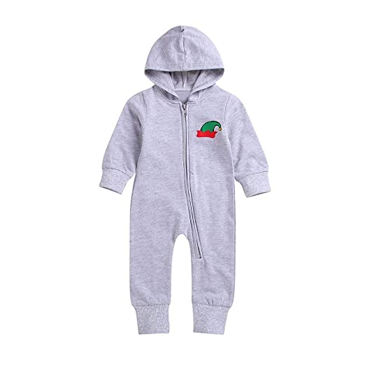 6a8a3193445d Amazon.com  OCEAN-STORE Newborn Infant Baby Girls Boys 3 Months-4T Letter  Print Hooded Jumpsuit Romper Clothes Blue  Clothing