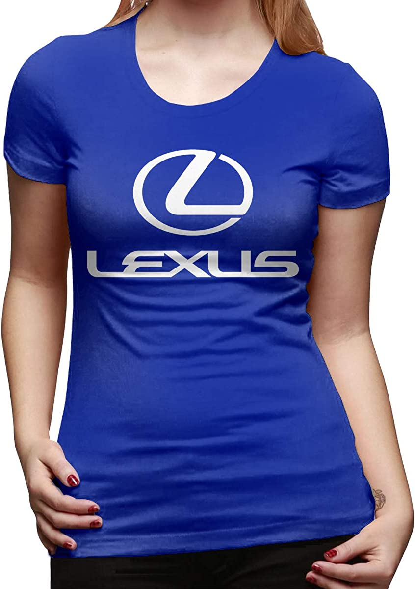 BingFeng Custom The Black Lexus Logo Short Sleeve Funny T Shirts for Ladies Black