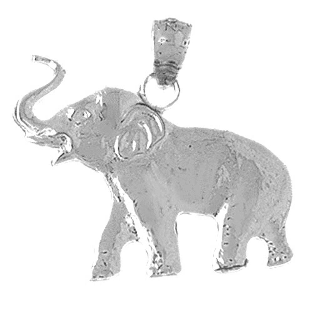 Jewels Obsession Elephant Pendant Sterling Silver 925 Elephant Pendant 23 mm