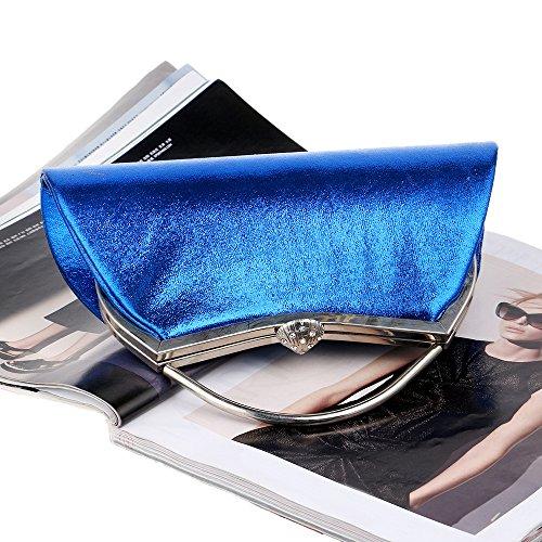 Evening Party Tote Candy Shoulder Blue Women's Rhinestone Bag Fashion Clutch Luxury colored Chain Bag qagYapxX