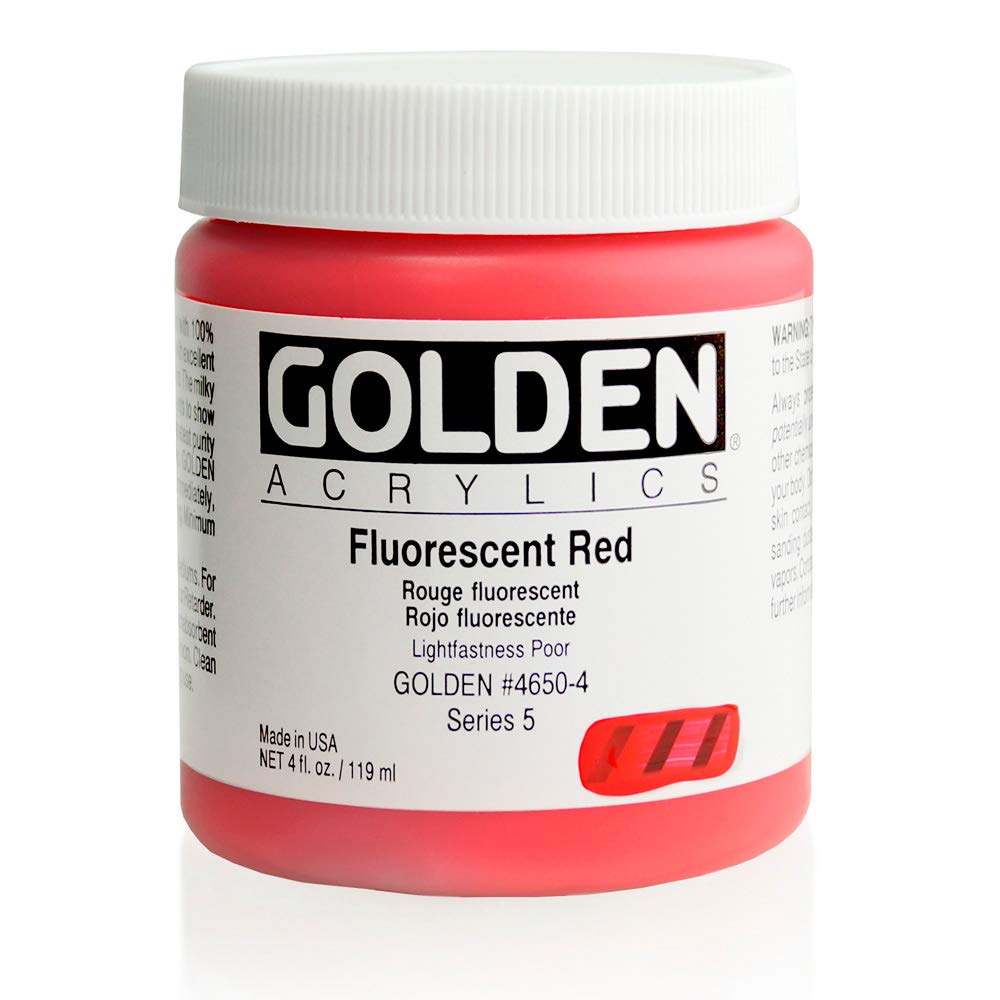 DS - Golden - GAC HB 946ml Naphthol rot Light - 5001210-7 Fluoreszierendes Rot 4 oz jar