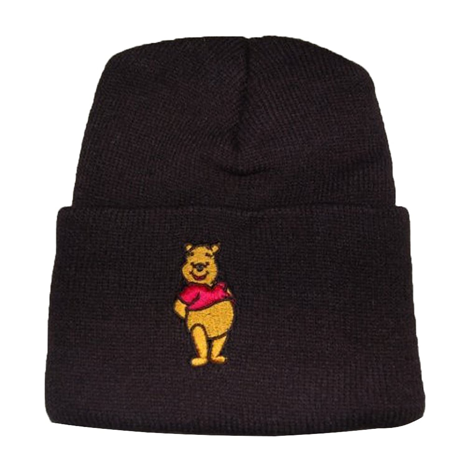 Youth Hat Winnie the Pooh Beanie - Cuff Black