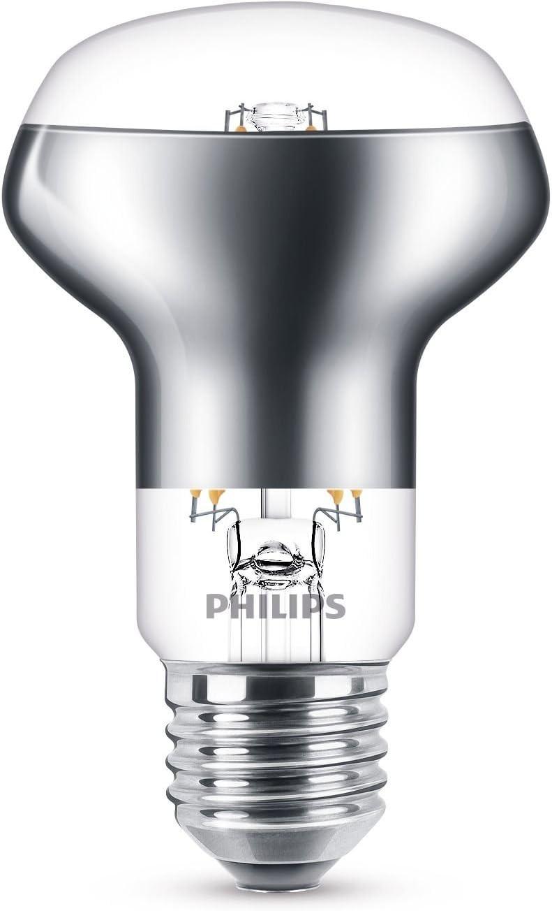 Philips LEDclassic Lampe ersetzt 42W, E27, warmweiß (2700 Kelvin), 505 Lumen, R63 Filament Klar Reflektor
